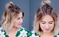 Topknot Hairstyles with Mini Braid