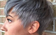 Choppy Gray Pixie Haircuts