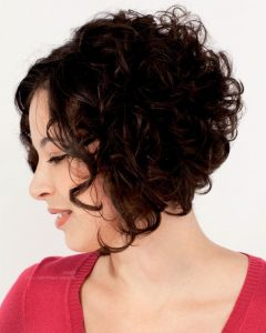 Stacked Curly Bob Hairstyles