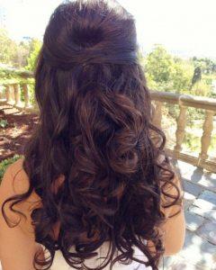 Half Up Wedding Hairstyles Long Curly Hair