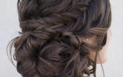 Low Pearled Prom Updos