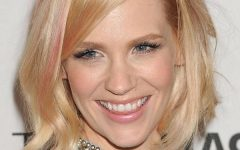 January Jones Shoulder Length Bob Hairstyles