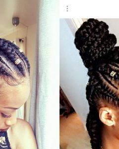 Half Up Half Down Cornrows Hairstyles