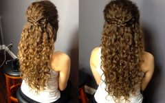 Half Curly Updo Hairstyles