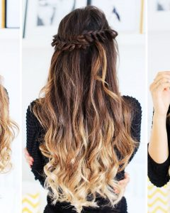 Half-Updo With Long Freely-Hanging Braids