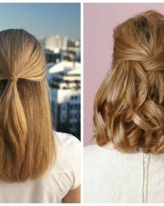 Half Updo Hairstyles For Medium Length Hair