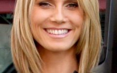 Heidi Klum Shoulder Length Bob Hairstyles