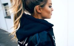 Long Brown Hairstyles with High Ponytail
