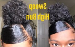 Sleek High Bun Hairstyles with Side Sweep