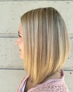 Long Bob Blonde Hairstyles With Lowlights