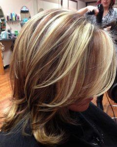 Bi-color Blonde with Bangs