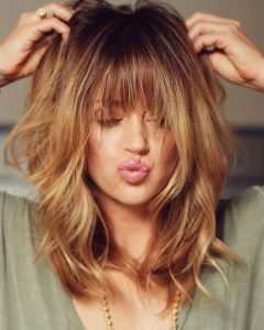 Fringe Hairstyles with Beachy Vibes