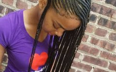 Full Scalp Patterned Side Braided Hairstyles