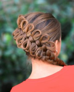 Bow Braid Ponytail Hairstyles