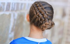 Zipper Braids with Small Bun