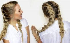 Loose Hair with Double French Braids