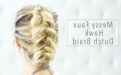 Messy Braided Faux Hawk Hairstyles