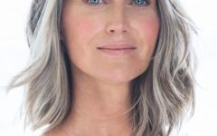 Medium Hairstyles for Grey Haired Woman