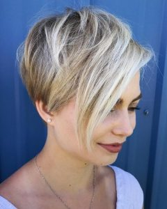 Layered Haircuts With Cropped Locks On The Crown