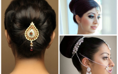 Simple Indian Wedding Hairstyles for Medium Length Hair