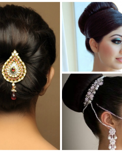 Simple Indian Wedding Hairstyles For Medium Length Hair