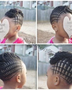 Mohawk With Criss-Crossed Braids