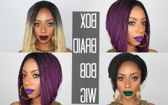 Purple Pixies Bob Braid Hairstyles