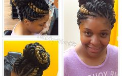 Jumbo Twist Updo Hairstyles