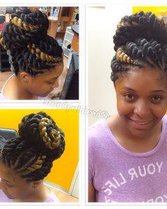 Jumbo Twist Updo Hairstyles