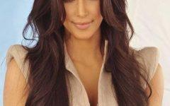 Long Layered Hairstyles Kim Kardashian