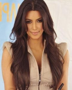 Long Layered Hairstyles Kim Kardashian