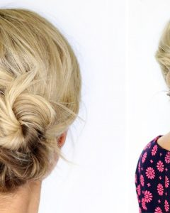 Quick Easy Short Updo Hairstyles