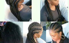 Long and Big Cornrows Under Braid Hairstyles