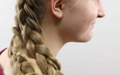 Asymmetrical French Braided Hairstyles