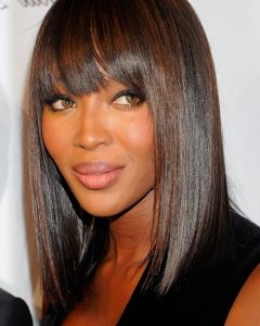 Bob Hairstyles For Black Women With Sleek Bangs