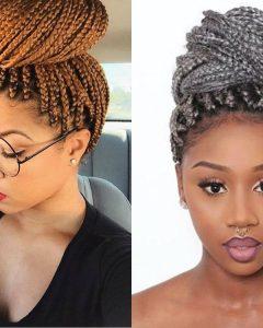 Box Braids Bun Hairstyles
