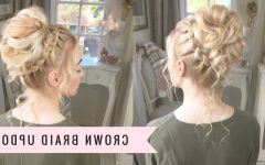 Crown Braid Updo Hairstyles