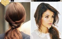 Curled-up Messy Ponytail Hairstyles