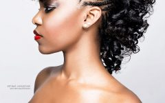 Fierce Mohawk Hairstyles with Curly Hair