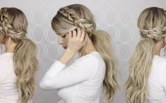 Long Messy Pony with Braid