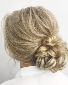 Looped Low Bun Hairstyles