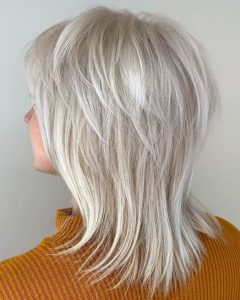 Silver Shag Haircuts With Feathered Layers