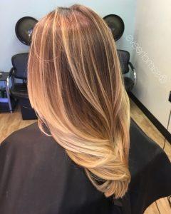 Thin Platinum Highlights Blonde Hairstyles
