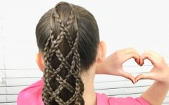 Lattice-weave with High-braided Ponytail
