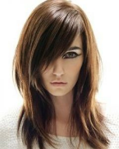 Side-swept Feathered Bangs Hairstyles