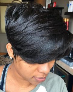 Layered Tapered Pixie Hairstyles for Thick Hair