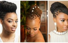 Updo Locs Hairstyles
