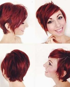 Long Red Pixie Haircuts
