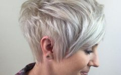 Long Messy Ash Blonde Pixie Haircuts