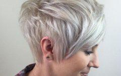Long Messy Ash Blonde Pixie Haircuts